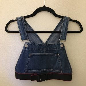 First of a Kind | LF | denim overall crop top
